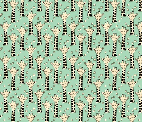 Giraffes-with-necks---geometric-ivory-on-green_shop_preview