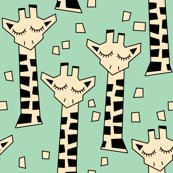 Giraffes-with-necks---geometric-ivory-on-green_shop_thumb