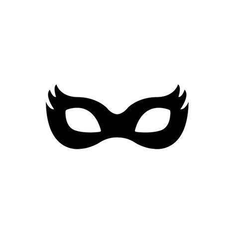 Girly Superhero Mask in black fabric by ajoyfulriot on Spoonflower - custom fabric