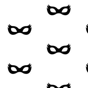 Girly Superhero Mask in black