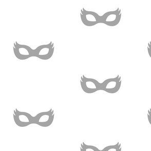 Girly Superhero Masks in Gray