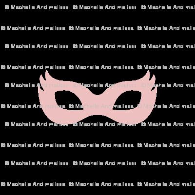 Girly Superhero Masks in Dusty Pink