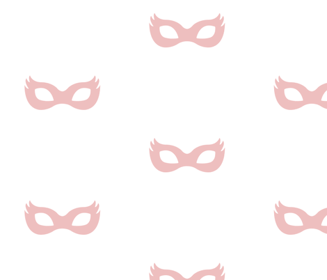 Girly Superhero Masks in Dusty Pink fabric by ajoyfulriot on Spoonflower - custom fabric