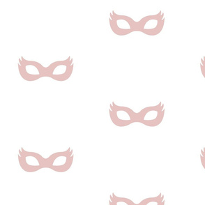 Girly Superhero Masks in Dusty Pink