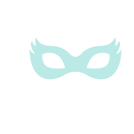 Girly Superhero Masks in Dusty Aqua fabric by ajoyfulriot on Spoonflower - custom fabric