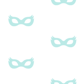 Girly Superhero Masks in Dusty Aqua
