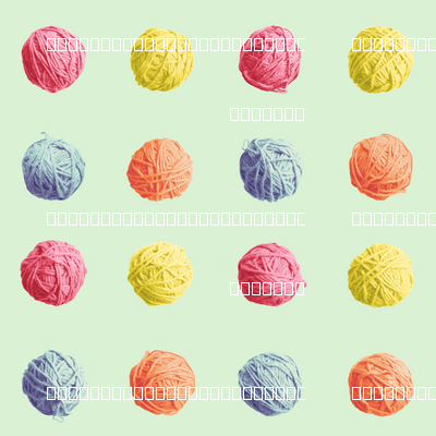 little yarn balls - spring quilt colors