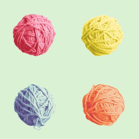 little yarn balls - spring quilt colors fabric by weavingmajor on Spoonflower - custom fabric