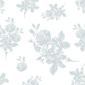 Floral Hand Drawn Toile