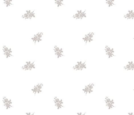 Dainty Floral Hand Drawn Pattern fabric by phrosne_ras on Spoonflower - custom fabric