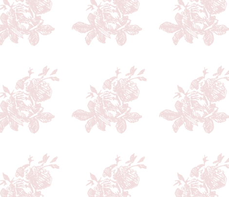 Large Floral Toile fabric by phrosne_ras on Spoonflower - custom fabric