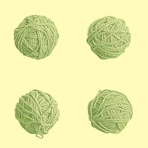 little yarn balls - green tea