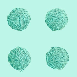 little yarn balls - surf teal
