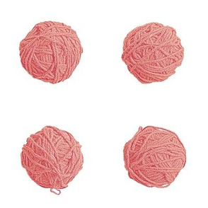 little yarn balls - soft red