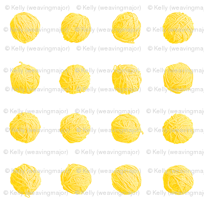 big yarn balls - saffron yellow