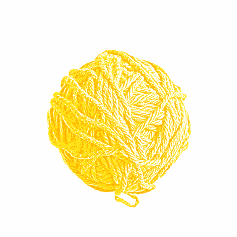 big yarn balls - saffron yellow fabric by weavingmajor on Spoonflower - custom fabric