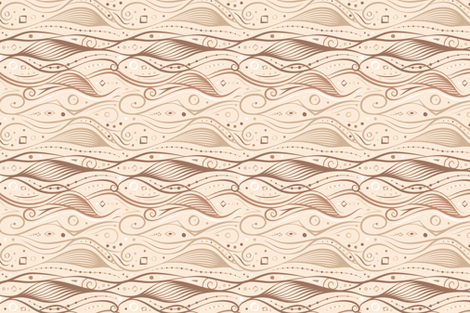 Curvy Swirl – Taupe fabric by jasmine-lové on Spoonflower - custom fabric