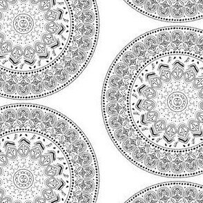 Taíno Mandala in Black and White