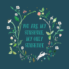 "You are my sunshine (midnight) 18"" sq. panel"