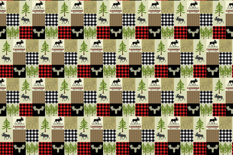 "LUMBER JACK RED 3"" fabric by moosedesigncompany on Spoonflower - custom fabric"