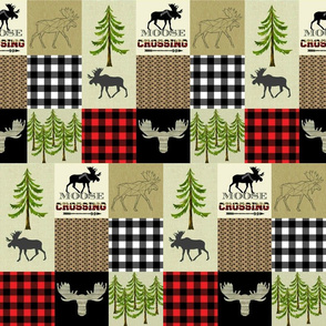 MOOSE LUMBER JACK RED WHOLECLOTH