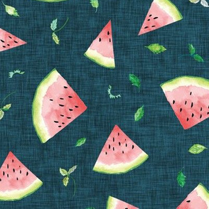Ambrosia Watermelon (midnight linen)