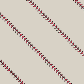 baseball stitch - on beige