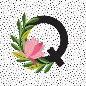 New Baby - Monogram - Garden - Letters