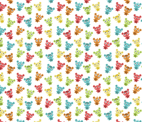 Emo Teddies fabric by agamaszota on Spoonflower - custom fabric