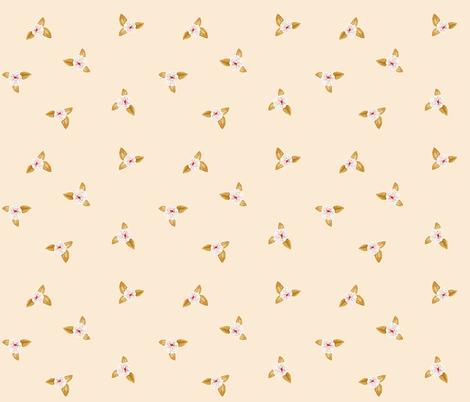 Rose Posy on Cream Peach fabric by thistleandfox on Spoonflower - custom fabric