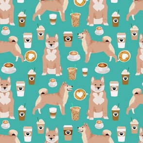 Shiba Inu Coffee Fabric Dogs Design
