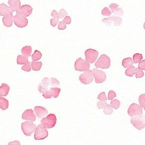 pink floral watercolor