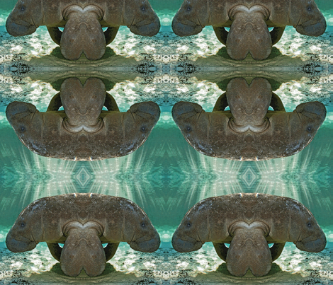 Manatee fabric by jacneed on Spoonflower - custom fabric