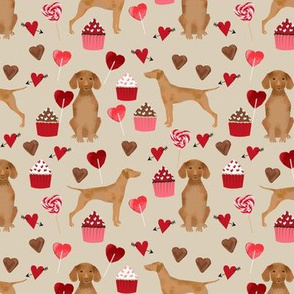vizsla valentines day love fabric best dogs design - sand
