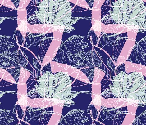 Tropical Bright Botanical Sketches fabric by phrosne_ras on Spoonflower - custom fabric