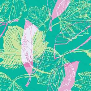 Tropical Bright Botanical Sketches