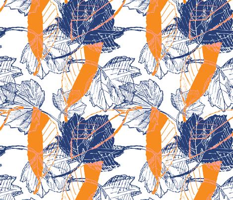 Tropical Bright Botanical Sketches fabric by phrosne_ras on Spoonflower - custom fabric
