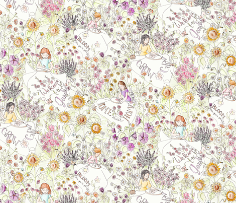 Garden Stitching Club fabric by blairfully_made on Spoonflower - custom fabric