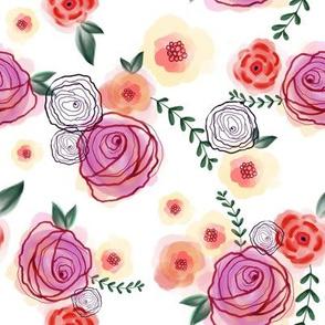 Multicolor Watercolor Floral - SM