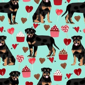 rottweiler valentines fabric dog love fabric best dogs fabric rottweilers