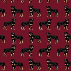 rottweiler fabric dog fabric design rottweiler repeat fabric - ruby red