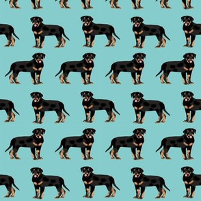 rottweiler fabric dog fabric design rottweiler repeat fabric - blue