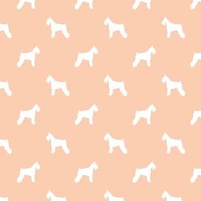 schnauzer silhouette fabric dogs fabric - apricot