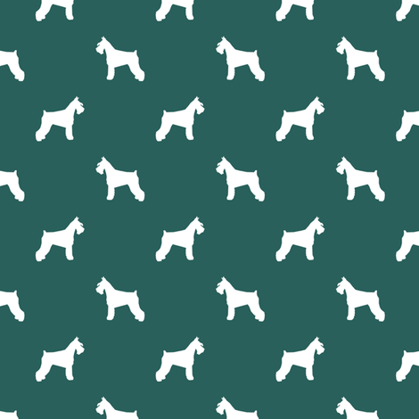 schnauzer silhouette fabric dogs fabric - eden green fabric by petfriendly on Spoonflower - custom fabric