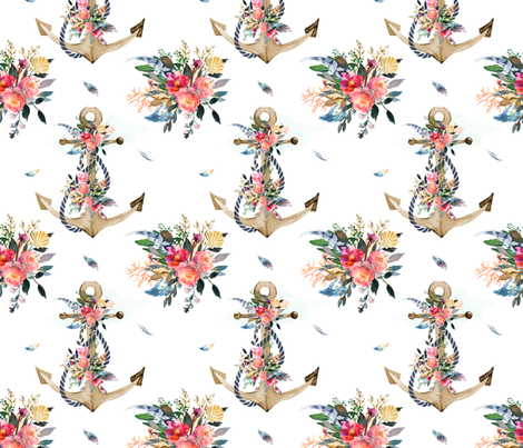 Anchor Bouquet  fabric by shopcabin on Spoonflower - custom fabric