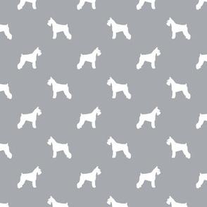 schnauzer silhouette fabric dogs fabric - quarry