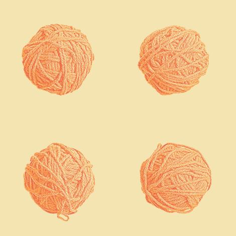 little yarn balls - orange creamsicle fabric by weavingmajor on Spoonflower - custom fabric
