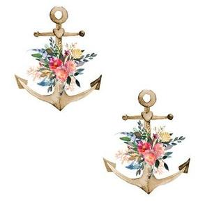"""7"""" Boho Floral Anchor - Middle Bouquet"""