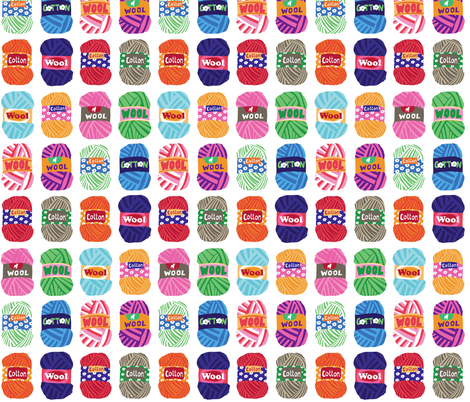yarns fabric by lisahilda on Spoonflower - custom fabric