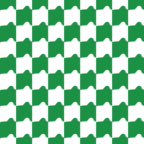 Green and White Rounded Check
